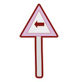 line color triangle metal notice with turn left vector image