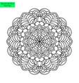mandala flower ornamented vector image vector image