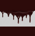melted dark chocolate dripping isolated vector image