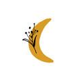 moon plant logo minimalist label simple art