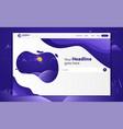 new trendy landing page website template design vector image vector image