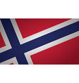 norway flag vector image vector image