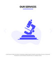our services lab microscope science zoom solid vector image vector image