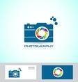 Photography camera logo vector image