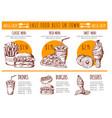 pictures bistro menu restaurant fast vector image