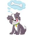 puppy dreams of a bone vector image vector image