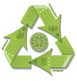 Recycling symbol infographic vector image vector image