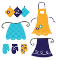 Retro apron set isolated on white vector image