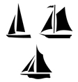 Sailboat Silhouettes vector image