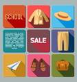 sale of school supplies icons set vector image vector image