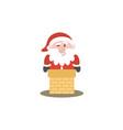 santa clause logo vector image vector image