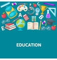School Colored Composition vector image vector image