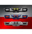 scoreboard icons design vector image vector image