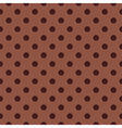 Seamless dark brown pattern with polka dots vector image vector image