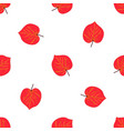 seamless pattern with hand drawn red autumn leaf vector image vector image