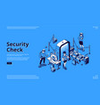 security check control in airport terminal vector image