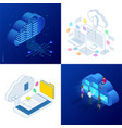 set design templates cloud computing concept vector image vector image