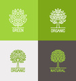 set linear icons and logo design elements vector image vector image