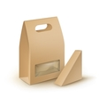 Set of Cardboard Take Away Lunch Box For Sandwich vector image vector image