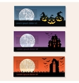 Set of three Halloween banners vector image vector image