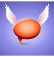 speech bubble with wing symbol of love vector image vector image