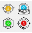 Startup badges logos and labels for any use vector image