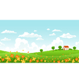 Sunny day landscape vector image vector image