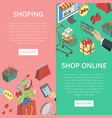supermarket online shopping vertical flyers vector image vector image
