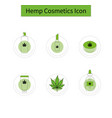 template hemp icon 2 vector image vector image