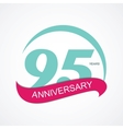 Template Logo 95 Anniversary vector image vector image