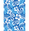 Tropical blue abstract repeat pattern vector image