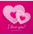 Valentines day lacy hearts greeting card vector | Price: 1 Credit (USD $1)