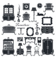 vintage home interior set vector image vector image