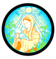 virgin mary with jesus vector image