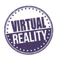 virtual reality sign or stamp vector image vector image
