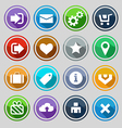 web design round buttons set vector image vector image