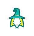 witch magic logo icon design vector image vector image