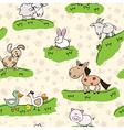 farm animals on grass vector image