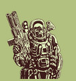 heavy space marine vector image