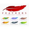 Logo design with bird feather Abstract polygonal vector image