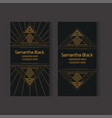 set of templates of vertical business cards in vector image