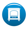 ancient oven icon blue vector image vector image