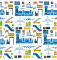 aviation seamless pattern background vector image vector image