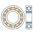 ball bearing design vector image vector image