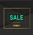 banner sale up to 50 off shop now square i vector image
