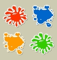 Blots stickers vector image vector image
