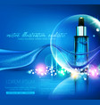 blue glass vial with professional facial vector image