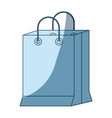 blue shading silhouette of shopping bag vector image vector image