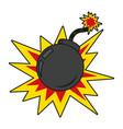 bomb explosive cartoon vector image