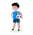 boy soccer football player vector image